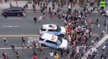Black Lives Matter rally | NYPD police cruisers run into crowds by Main world_news channel