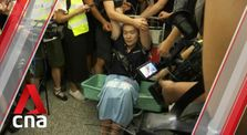 Hong Kong airport protesters tie up man later identified as Global Times reporter by Main world_news channel