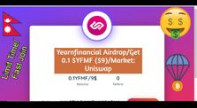 Yearnfinancial Airdrop/Get 0.1 YFMF ($9)/Market: Uniswap/ make money online/Limit Time by Earning Channal